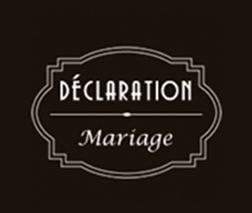 Déclaration Mariage - 1