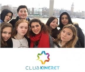 Club Kineret - Londres Février 2020- 11-14 ans et 15-17 ans - 2