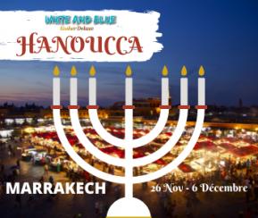 White & Blue Hanoucca Marrakech - 1