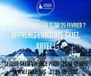 French Jewrney - Valence - 14-18 ans - Du 15 au 25 Février - 1