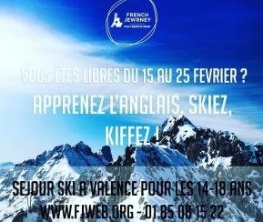 French Jewrney - Valence - 6-13 ans -  Du 15 au 25 Février - 1